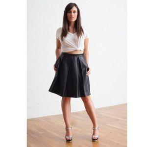 Elizabeth and James Julius Pleated Leather Skirt